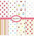 set bagirl patterns vector image vector image