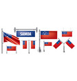 set national flag samoa in vector image vector image