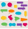 Set of colorful speech bubbles with shadows vector image vector image