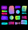 set of trendy gradient grunge paint background vector image vector image