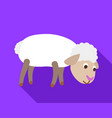 sheep search food icon flat style vector image