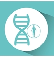 silhouette person medical genetic icon design vector image vector image