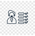 skills concept linear icon isolated on vector image vector image