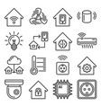 smart home icons set on white background line vector image vector image