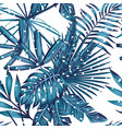 snow tropical seamless pattern vector image vector image