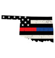state oklahoma police and firefighter support vector image