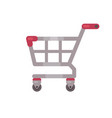 supermarket shopping cart sale flat icon vector image