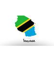 tanzania country flag inside map contour design vector image vector image