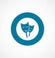theater bold blue border circle icon vector image