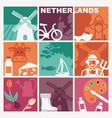 traditional symbols netherlands vector image