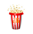 vintage popcorn for movie entertainment vector image