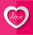 white paper heart vector image vector image
