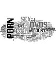 why buy adult films text word cloud concept vector image vector image
