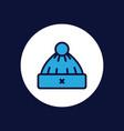 winter hat icon sign symbol vector image
