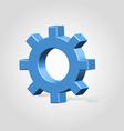 Blue settings wheel vector image