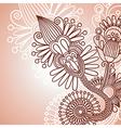 henna doodle floral pattern vector image