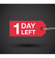 1 day left sale vector image vector image
