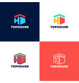 abstract arrows real estate house logo icon vector image