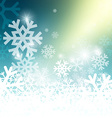 Abstract Blue Winter Background with Yellow Glow vector image vector image