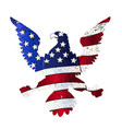 american flag and eagle vector image vector image