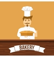 Baker And Bread Design vector image vector image