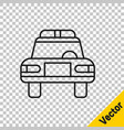 black line police car and police flasher icon vector image vector image