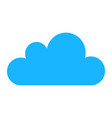 blue cloud icons isolated on background modern fl vector image vector image
