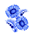 blue flower vector image vector image