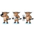Buffalo Cream Mascot with phone vector image vector image