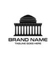 campus building logo vector image vector image