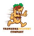 cartoon character shawarma logo vector image vector image