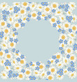 chamomile and forget me-not-flowers pattern on vector image vector image