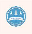 christmas round emblem