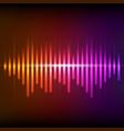 colorful digital shining equalizer vector image vector image
