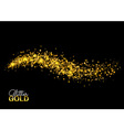 Cosmic glittering wave golden sparkling star Magic vector image vector image