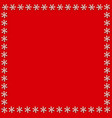 cute square snowflakes template or chrismas or vector image