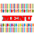 Cutlery background vector image vector image
