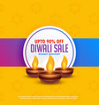 diwali festival sale background with three diya vector image vector image