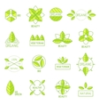 Ecology icons set elements labels organic natural vector image