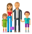 family logo design template parents vector image