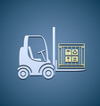 forklifts with cargo box vector image vector image