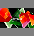 glossy squares and triangles geometric backgrounds vector image