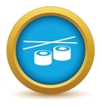 Gold sushi icon vector image