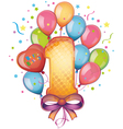 Happy birthday one vector image