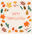 happy thanksgiving day thanksgiving day leaves vector image