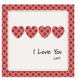 i love you card with hearts vector image