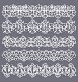 lace borders seamless vintage cotton lace eyelets vector image vector image