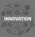 linear innovation vector image