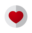 Love Heart Circle Design vector image vector image