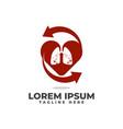 love lungs circulation arrow logo icon vector image vector image